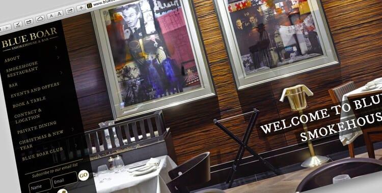Portfolio: website for Blue Boar London restaurant & pub