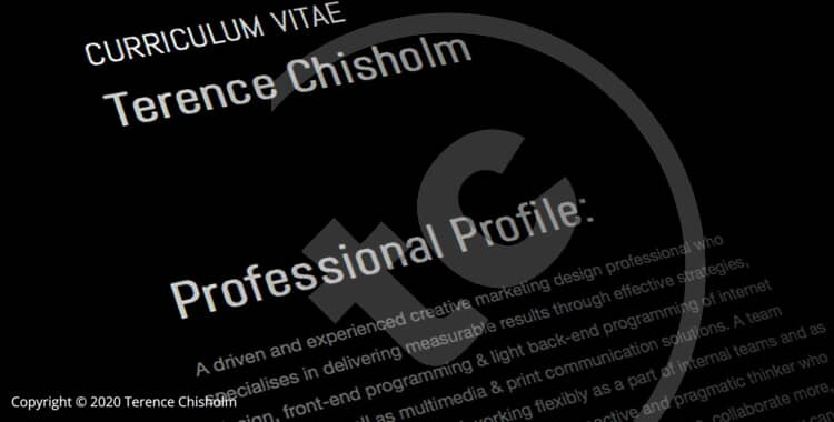 Terence Chisholm / Curriculum Vitae / Resume