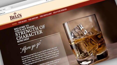 Portfolio: Bell's Whisky website